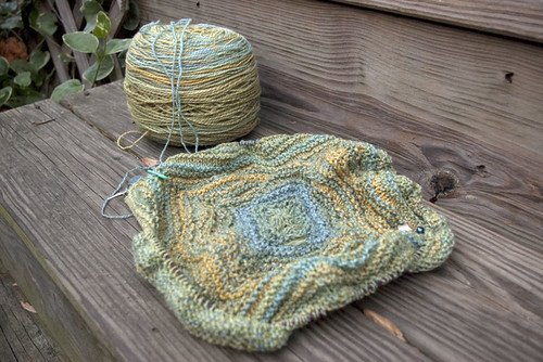 Ripple Blanket - First pattern section