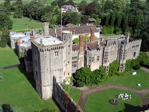 Thornbury Castle, reached by private (train) carriage