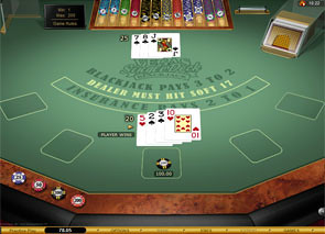 Vegas Single Deck Blackjack Gold game