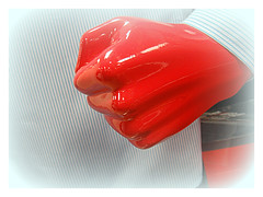 Seeing Red (The Stig 2009) Tags: anger thestig2009 thestig stig 2009 tony o tonyo sony dsc tx1 fist red mannequin fury