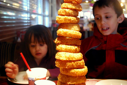 Towering Onion Rings