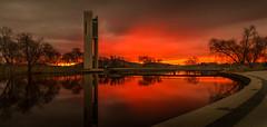 Canberra Carillon Sunset (Tacksoon) Tags: canberra carrillon sunset sunrise red skyies sky