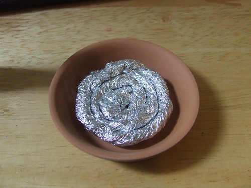 Foil in dish