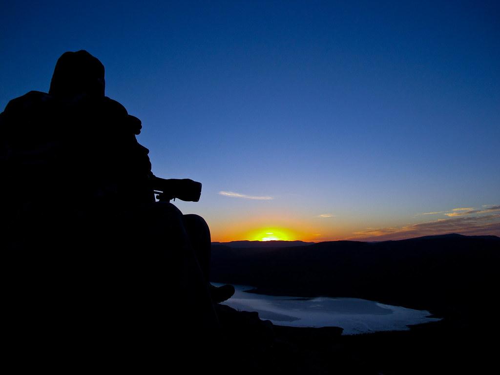 Sunrise over Skolfield Reservoir