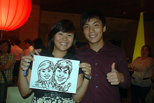 Caricature live sketching for Travel Partners Appreciation Dinner - World Fiesta - 4