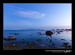 Tunis Bay (Ulrich Mnstermann) Tags: africa blue sunset sun nature rock landscape coast zonsondergang blauw colours sonnenuntergang tunisia tunis natur natuur maghreb afrika blau landschaft carthage tunisie landschap farben  kleuren tunisgovernorate gouvernoratdetunis  republicoftunisia rpubliquetunisienne
