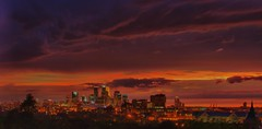 Minneapolis Skyline (John Pihaly) Tags: sunset rain minnesota night canon buildings evening minneapolis mississippiriver twincities storms mn hdr thunderstorms downtownminneapolis skylineatnight minnesotathunderstorms cloudsstormssunsetssunrises