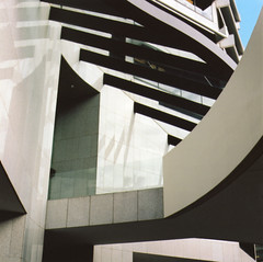 QV1 (charlie chocolate) Tags: film architecture mediumformat curves angles perth qv1 portra160vc hasselblad500cm