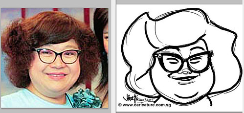 caricature demo of Lydia Shum - small