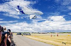 Airbus A 380 at Farnborough Air Show 2010 (Muzammil (Moz)) Tags: uk london moz aircrafts airbus380 passengeraircraft muzammilhussain farnboroughairshow2010 monsteraircraft
