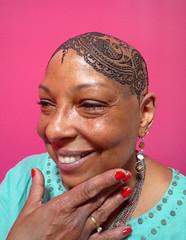 M's second go at a hennaed head (kenzilicious) Tags: henna head bald mehndi mehandi mehendi hair indian henne heena paisley kenzi