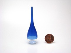 Cobalt and Clear Mini Bottle 2