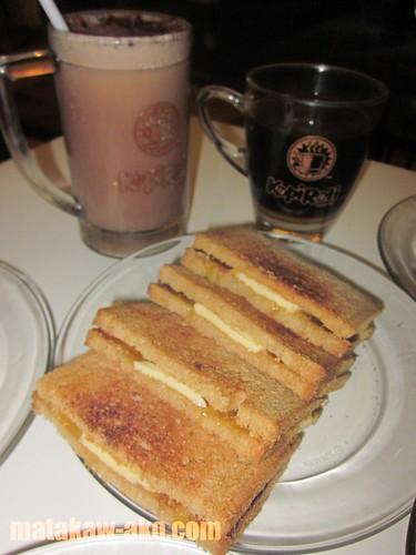 Kopi Roti Kaya Toast, Milo Dinosaur and Kopi