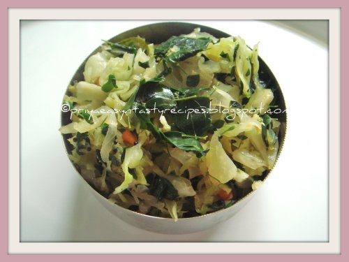 Cabbage & Drumstick Leaves Stirfry