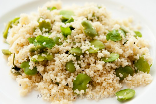 broad bean couscous