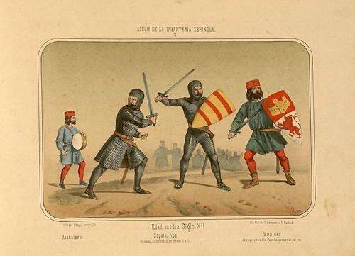 003- Álbum de la Infantería Española..-1861- conde de Clonard