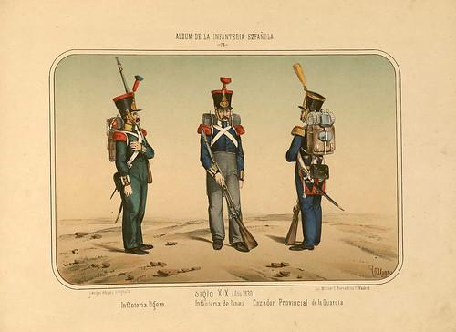 019- Álbum de la Infantería Española..-1861- conde de Clonard