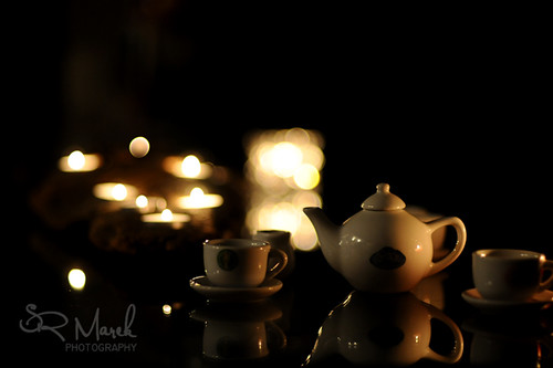 Tea Time by candle light