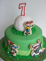 Golf cake (East Coast Cookies) Tags: birthday party cookies golf birthdaycake decoratedcookies golfcake golfcookies
