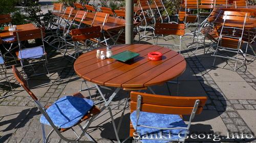 Außenplätze bei Max & Consorten, Spadenteich, Hamburg St. Georg