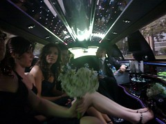 In the limo: Just Married!