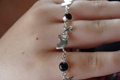 Elephant and Onyx Bracelet