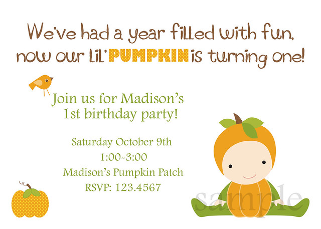 Pumpkin birthday
