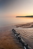 Black Creek Mouth (Billy Wilson Photography) Tags: longexposure trip camping sunset vacation lake ontario canada motion beach digital canon eos rebel evening movement log sand scenery waves ripple wave august driftwood foam xs lakesuperior blackcreek pancakebay billywilsonphotography