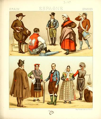 032-Vestimentas Leon-Galicia-Asturias-Aragon-Castilla -Geschichte des kostüms.. 1888- A. R