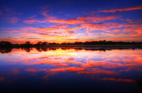 フリー写真素材, 自然・風景, 夕日・夕焼け・日没, 湖・池, アメリカ合衆国,
