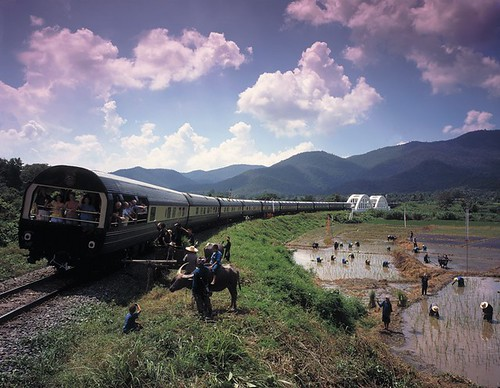 View of the Eastern Oriental Luxury Train
