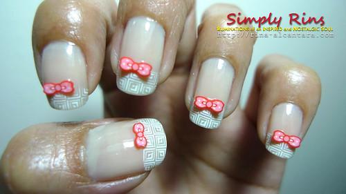 Nail Art Pink Bow 02