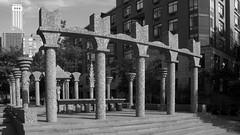 2010 08 14 - 8999-9000 - NYC - Albany St (thisisbossi) Tags: nyc newyorkcity urban blackandwhite bw autostitch usa ny newyork art us blackwhite unitedstates manhattan stonework panoramas batterypark panoramics