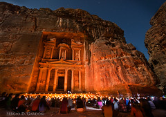 Petra at night (Sergio Gardoki) Tags: night noche petra jordania eltesoro alkhazneh dragondaggerphoto ringexcellence