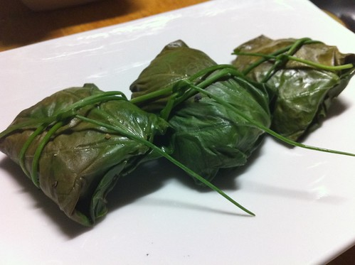 Bite-sized Kale Wrapped Salmon Parcels