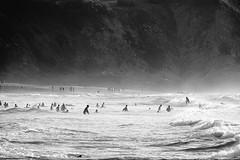 Tarde de playa, gentes y contraluces de escenas. (lvaro Bueno) Tags: