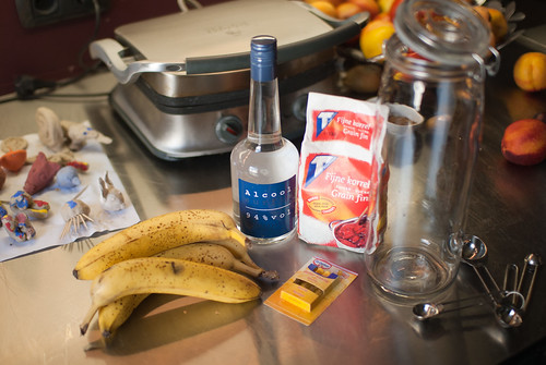 Bananen, alcohol, suiker