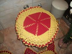 JOGO DE BANHEIRO EM CROCHE (marcinha croche) Tags: de em jogo banheiro croche toalinha