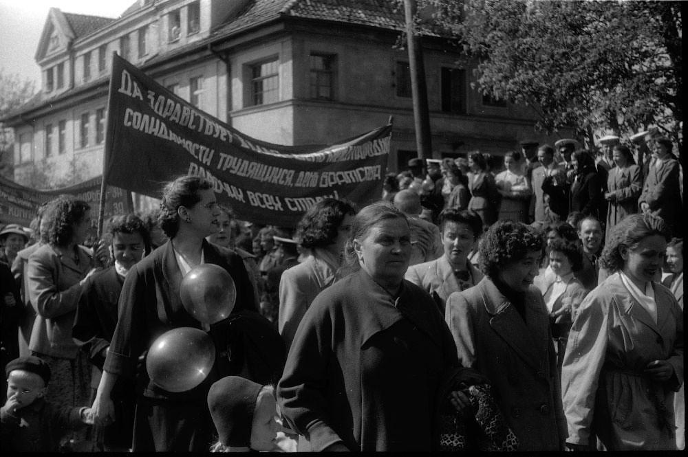 Demonstration in Baltiyask (Kaliningrad region) end of 40s