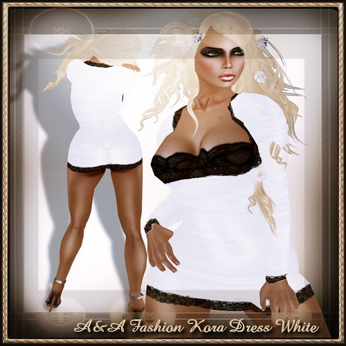 A&A Fashion Kora Dress White
