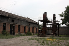 Abandoned factory ground, Pingyao, China (sensaos) Tags: china old urban building abandoned industry town ancient asia industrial factory decay derelict pingyao factories azie azië