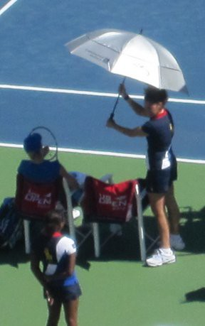 umbrella at US open