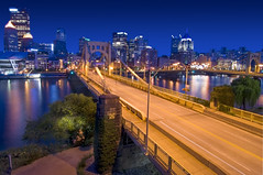 Pittsburgh by Twilight (Matt Granz Photography) Tags: city bridge reflection water skyline night river twilight nikon pittsburgh skyscrapers dusk pennsylvania wideangle tokina bluehour 1224mm d90