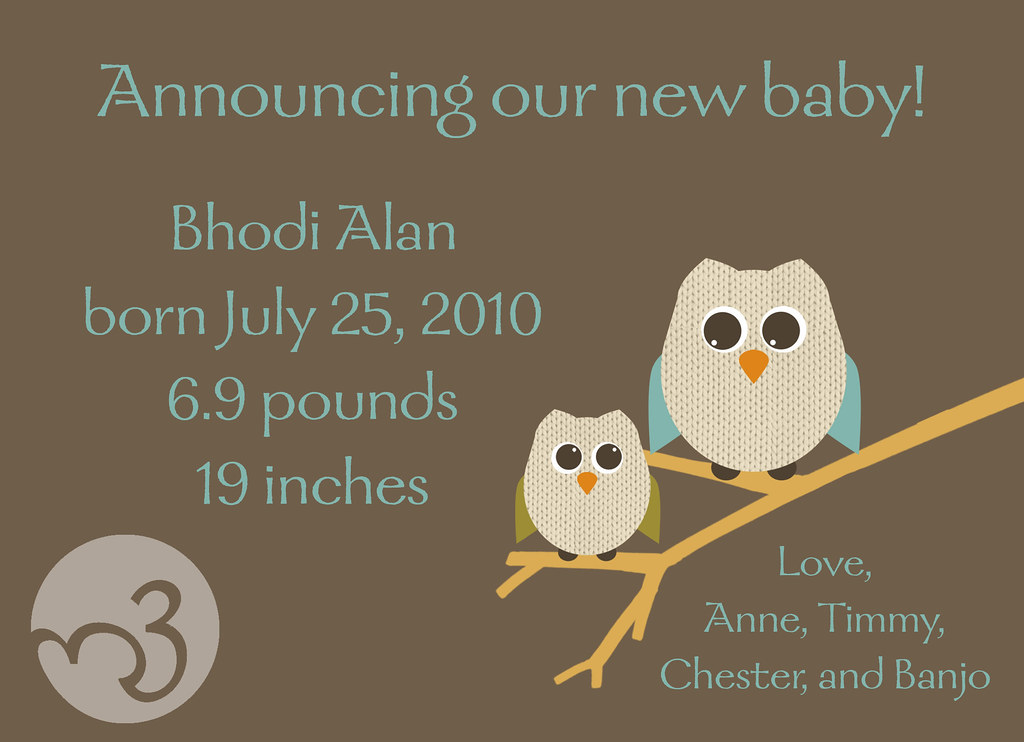 Birth Announcement, back