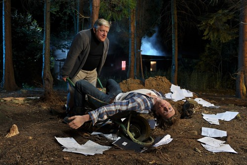 Jonathan Groff & Simon Russel Beale in Deathtrap