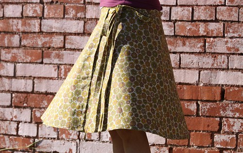 Wrap Skirt in Vintage Fabric Handmade Etsy Boutique