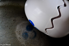 Hard Boiled Egg (Cowboy 55) Tags: reflection smile silver 50mm nikon egg pan 18f mywinners d300s