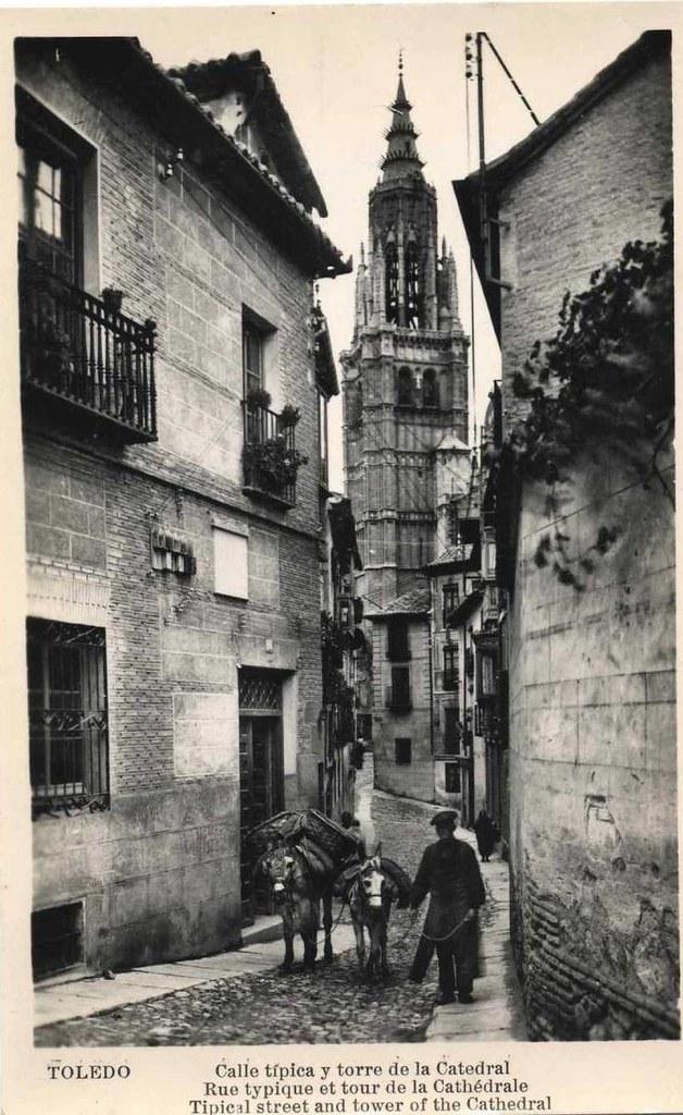 Calle de Santa Isabel a principios del siglo XX. Foto Roisin