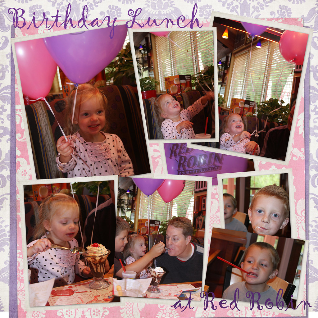 bday lunch collage