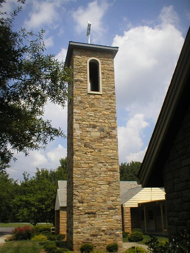 50 foot stone bell tower from another angle